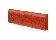 Резиновая плитка Rubtex Бордюр 1000x260 (красный)