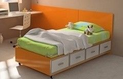 Детская кровать Детская кровать VMM Krynichka подростковая с выдвижными ящиками (модель 25)