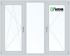 Окно ПВХ Окно ПВХ WDS 2060*1420 1К-СП, 3К-П, П/О+Г+П