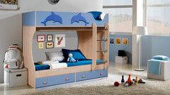 Двухъярусная кровать Артем-мебель СН-108.01 синяя