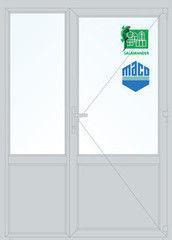 Дверь ПВХ Дверь ПВХ Salamander 1500*2100 двустворчатая Модель 50