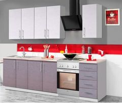 Кухня Кухня Анмикс Гретта орфео белый+серый 2000