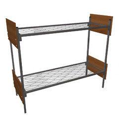 Двухъярусная кровать Европротект 2ДКП-2 металлическая со спинками из ЛДСП (80x190см)