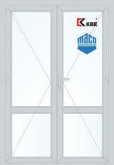 Дверь ПВХ Дверь ПВХ KBE 1300*2100 двустворчатая Модель 72