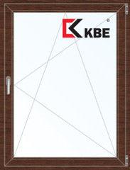 Окно ПВХ Окно ПВХ KBE 800*1100 2К-СП, 5К-П, П/О ламинированное (темное дерево)