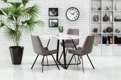 Обеденный стол Обеденный стол Halmar Looper (белый/черный)