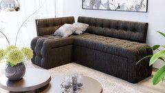 Кухонный уголок, диван ТриЯ угловой со спальным местом «Манчестер» (кожзам коричневый)