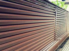 Забор Забор МСК Инвест Забор-жалюзи двухсторонний матовый (цвет 8017/8017)
