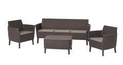 Keter Комплект мебели Салемо трипл сет (Salemo 3 seater set) коричневый