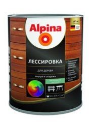 Защитный состав Защитный состав Alpina Лессировка для дерева, шелковисто-матовая (10 л)