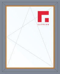 Дерево-алюминиевое окно Gutmann Лиственница 800*1200, 1с, П/О