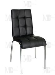 Кухонный стул Metsteklo PU-7315 черный