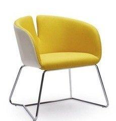 Кресло Кресло Halmar Pivot (бело-желтый)