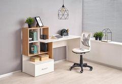 Письменный стол Halmar Grosso (дуб золотой/белый)
