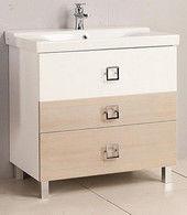 Мебель для ванной комнаты Акватон Тумба под умывальник Стамбул 85 М (сосна ларедо)