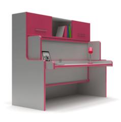 Мебель-трансформер Мебель-трансформер Mebelin Стол-кровать бело-розовый
