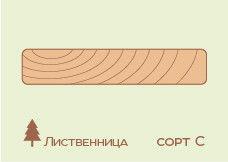 Террасная доска Лиственница 27*140 (палубная доска), сорт С