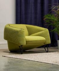 Кресло Кресло MobilaDalin Flow (с вышивкой зеленый)