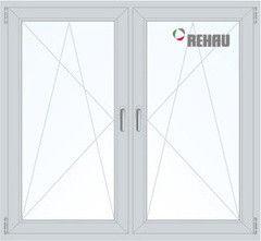 Окно ПВХ Rehau 1100*1400 2К-СП, 4К-П, П/О+П/О