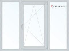 Окно ПВХ Окно ПВХ Dexen 1800*1400 2К-СП, 4К-П, Г+П/О+Г