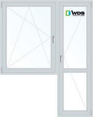 Окно ПВХ Окно ПВХ WDS 1440*2160 1К-СП, 4К-П, П/О+П
