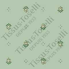 Tissus Toselli Скатерть Calissons Green/beige 150х250