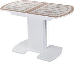 Обеденный стол Обеденный стол Домотека Танго ПО (СТ-72/белый/05) 70x110(147)x75
