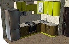 Кухня Кухня ЗОВ 7м (260х160)
