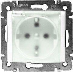 Legrand Valena Розетка IP44 нем.ст. 2К+3 с крышкой и шт. белая (774220)