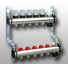 Комплектующие для систем водоснабжения и отопления Meibes Распределительный коллектор на 5 выходов с регулирующими вентилями (1794125)