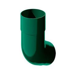 Водосточная система ТехноНиколь Колено трубы ТН ПВХ зеленое 108