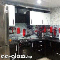 Скинали AA-Glass Скинали 13 из закаленного стекла 6мм + фотопечать (УФ-запекание)