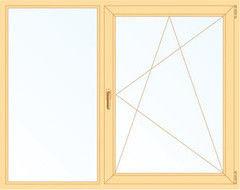 Деревянное окно Сосна 1460*1400, 1с, Г+П/О