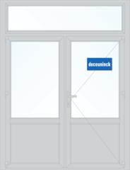 Дверь ПВХ Дверь ПВХ Deceuninck Фаворит Спэйс 1800*2700 2К-СП двустворчатая Модель 15