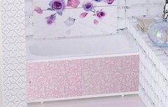 Экран под ванну Метакам Кварт розовый иней 1480
