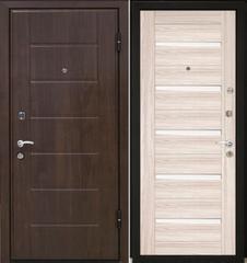 Входная дверь Входная дверь МеталЮр М7 (капучино мелинга, белое стекло)