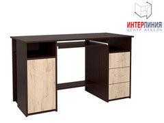Письменный стол Интерлиния СК-007 Дуб венге+Дуб серый