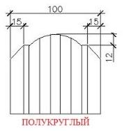 Профнастил Профнастил Вертрагия Штакетник полукруглый ШТ-100х17