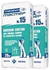 Сухая кладочная смесь Сухая кладочная смесь Тайфун-Мастер № 15М, зимний (t до -5°) (20 кг)