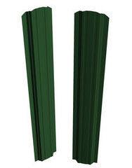 Забор Забор Скайпрофиль Штакетник П-97 одностороннее покрытие Пэ глянцевый RAL6005