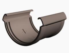Водосточная система Docke Lux Соединитель желобов (шоколад)