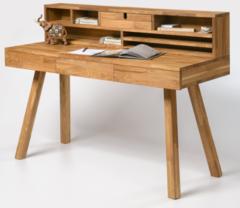 Письменный стол Стэнлес Модерн 2 (отбеленный дуб, масло Natur, бейц-масло+воск)