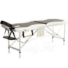 Мебель для салонов красоты  Массажный стол AAF 2-х сегментный складной (алюминий), цвет черно-белый