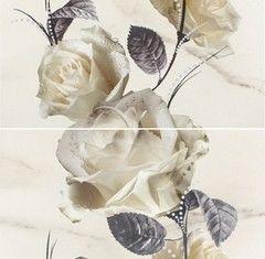 Плитка Плитка Opoczno Carrara White Flower OD001-020 593x583