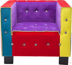 Кресло Kare Cube Button Multicoloure 78786