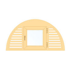 Деревянное окно Сосна слуховое, 1с, Модель 3