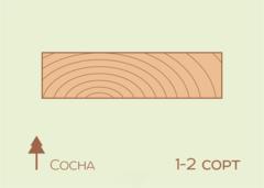 Доска строганная Доска строганная Сосна 40x100x3000 сорт 1-2 технической сушки