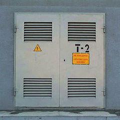 Дверь промышленная, противопожарная ФИРМА ВАСА Ворота для трансформаторной подстанции (для ТП) 1