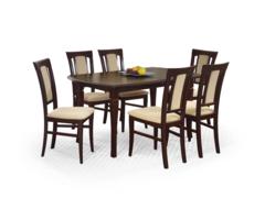 Обеденный стол Обеденный стол Halmar Fryderyk 160/240 раскладной (темный орех)