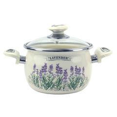 Кастрюля Кастрюля Laurel Кастрюля 3.5 л сферическая со стеклянной крышкой  Lavender